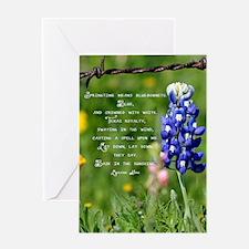 bluebpnnet poem Greeting Card
