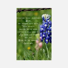 bluebpnnet poem Rectangle Magnet