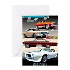 1960s Muscle Cars Greeting Card