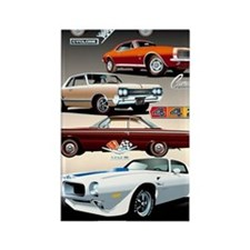 1960s Muscle Cars Rectangle Magnet
