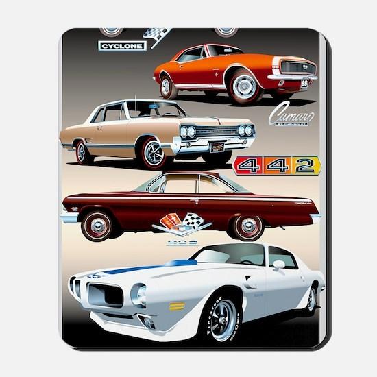 1960s Muscle Cars Mousepad