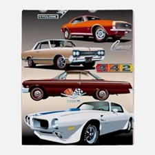 1960s Muscle Cars Throw Blanket