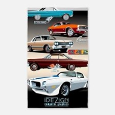 1960s Muscle Cars 3'x5' Area Rug