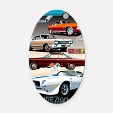 1960s Muscle Cars Oval Car Magnet