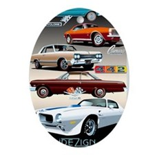 1960s Muscle Cars Oval Ornament
