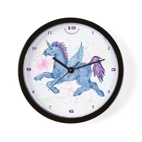 Winged Unicorn PNK Wall Clock