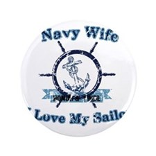 """Navy wife 3.5"""" Button"""