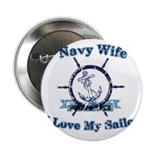 "Navy wife 2.25"" Button"