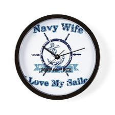 Navy wife Wall Clock
