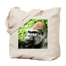 Earnie Silverback gorilla looking forward Tote Bag