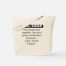 OCD-ADHD-Ducks-2-4-6-8 Tote Bag
