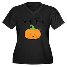 Fresh from t Women's Plus Size Dark V-Neck T-Shirt
