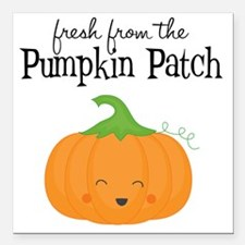 "Fresh from the Pumpkin P Square Car Magnet 3"" x 3"""