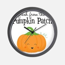 Fresh from the Pumpkin Patch Wall Clock