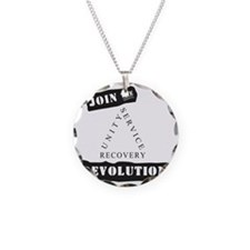 Sobriety Revolution Necklace Circle Charm