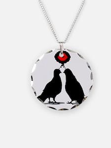 Kiss thinking Doves - Two Va Necklace