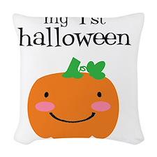 My First Halloween Woven Throw Pillow