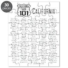 US Route 101 California Cities Puzzle