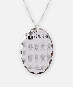 US Route 101 California Cities Necklace