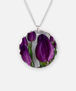 Purple Tulips Necklace