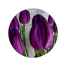 "Purple Tulips 3.5"" Button"