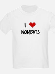 I Love Wombats Kids T-Shirt
