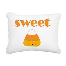 Candy Corn Sweet Rectangular Canvas Pillow