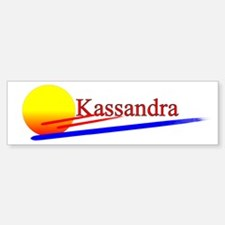 Kassandra Bumper Car Car Sticker