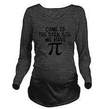 Dork Side Long Sleeve Maternity T-Shirt