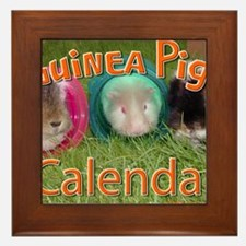 Guinea Pigs #2 Wall Calendar Framed Tile