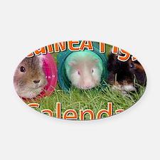 Guinea Pigs #2 Wall Calendar Oval Car Magnet