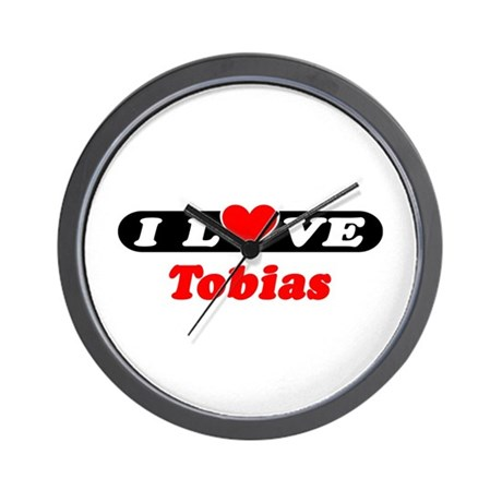 I Love Tobias Wall Clock