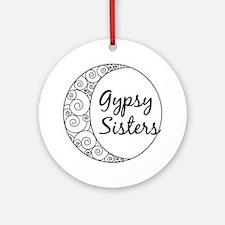 Gypsy Sisters White Logo Round Ornament