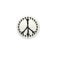 Peace Sign Bones Mini Button