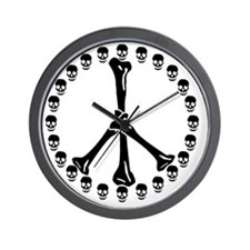 Peace Sign Bones Wall Clock