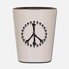 Peace Sign Bones Shot Glass