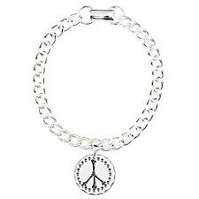 Peace Sign Bones Bracelet