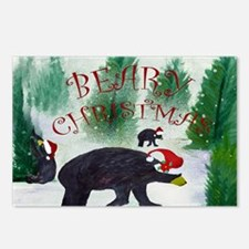 Beary Christmas Postcards (Package of 8)