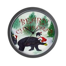 Beary Christmas Wall Clock