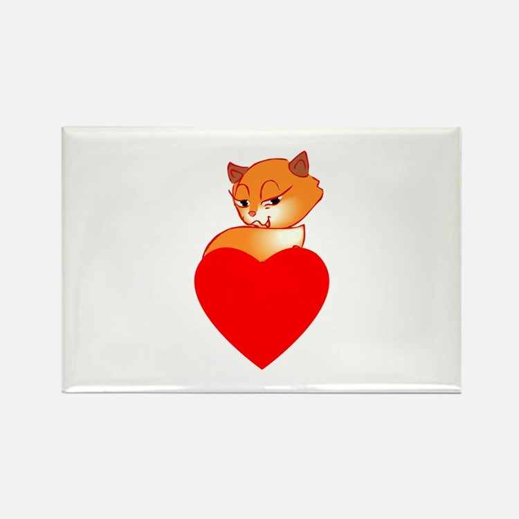 Foxes Rectangle Magnet (10 pack)