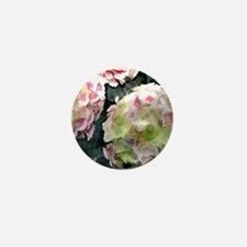 Pink Hydrangeas Mini Button