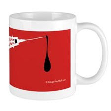 Hypo-Derrick (White on Red) Mug