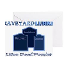 Graveyard Lurker Greeting Card