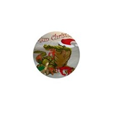 Cajun Christmas Mini Button