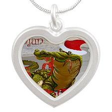 Cajun Christmas Silver Heart Necklace