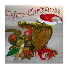 Cajun Christmas Tile Coaster