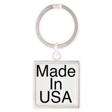 Made In USA Square Keychain