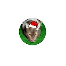 Santa Hamster #1 Mini Button