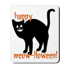 Black Cat Meowlloween Mousepad