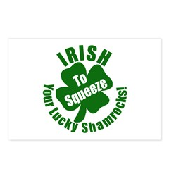 IRISH to Squeeze Your Shamrocks Postcards (Package